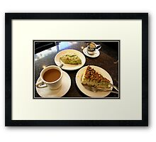 Pistachio Cheesecake or Biscotti Framed Print