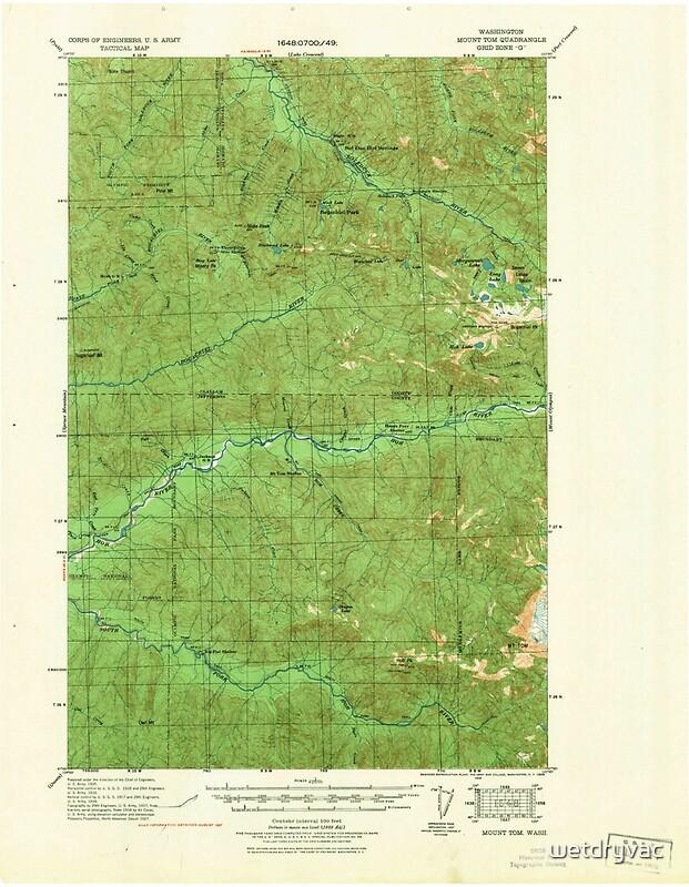 QuotUSGS Topo Map Washington State WA Mount Tom 242571 1939