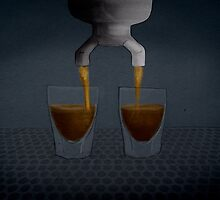Espresso Coffee Shots Pouring by digestmag