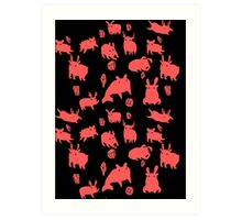 Weebeasts (red) Art Print