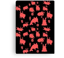 Weebeasts (red) Canvas Print
