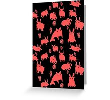 Weebeasts (red) Greeting Card