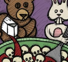 Teddy Bear And Bunny - Skullios Sticker