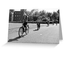 Follow me - Leading the way - BW Greeting Card
