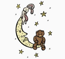 Teddy Bear and Bunny - Caught In The Moonlight Unisex T-Shirt