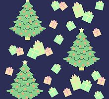 Christmas Tree with Presents #2 by simplepaperplan