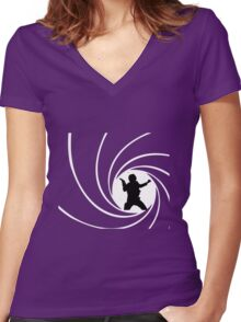 Bond Solo Women's Fitted V-Neck T-Shirt