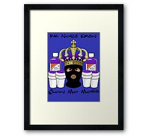 Purple Drank KING Slo Mo Mobb Clothing Framed Print