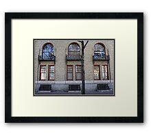 Wrought Iron & Brick Framed Print