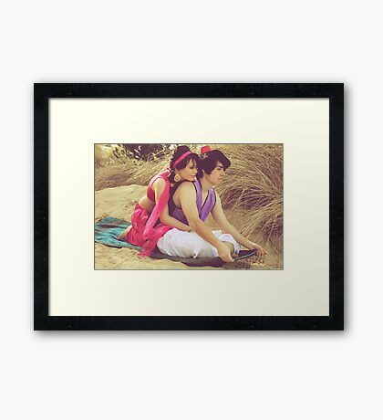 Aladdin & Jasmine Framed Print