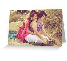 Aladdin & Jasmine Greeting Card