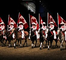 Canadian Flags on Horseback by photobylorne