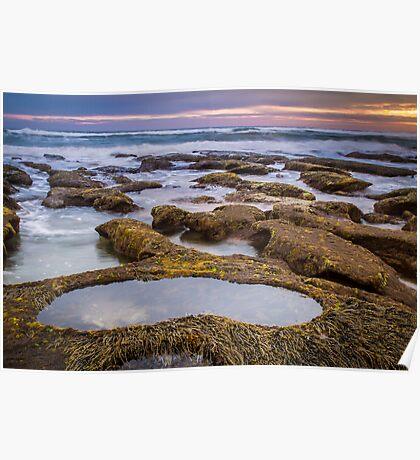 13th Beach ~ Rock Pool Poster