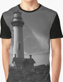 Lighthouse in B&W Graphic T-Shirt