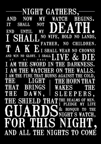 The Night's Watch Oath by z296