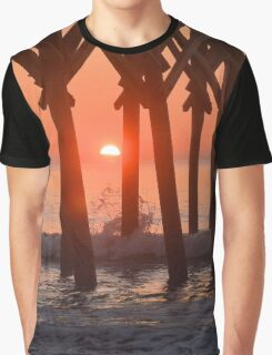 Sunrise At Pier 14 Graphic T-Shirt
