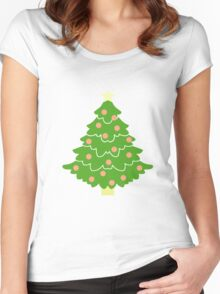 O' Christmas Tree #1 Women's Fitted Scoop T-Shirt