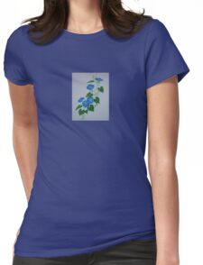 Blue Bindweed Womens Fitted T-Shirt