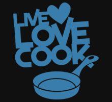 LIVE LOVE COOK with saucepan Baby Tee