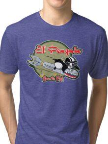 EL PENGUIN - Born to Fly Tri-blend T-Shirt