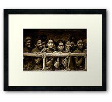 Hindu Pilgrims on New Year's Day Framed Print