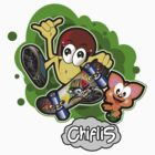 CHIFLIS - SKATEBOARD HANG LOOSE by elpenguin