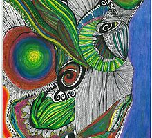 Downward glance of  Maunga Taranaki... by Lesley A Marsh