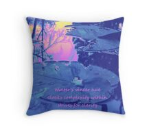 Winter Simplicity Throw Pillow