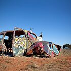 Abandoned car is now a canvas by susantrigg