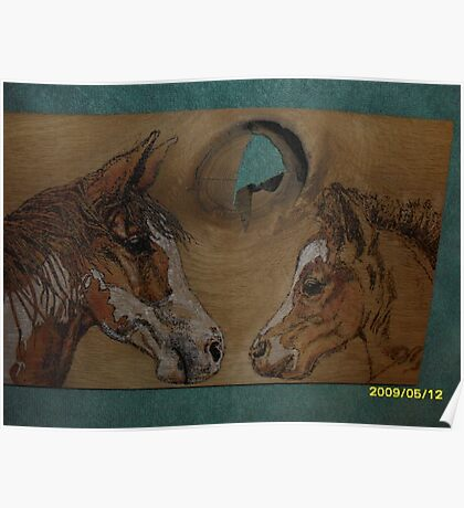 Mare and Foal Poster