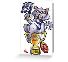 Geelong Cats Premiers 2011 Greeting Card