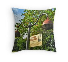 Street Lamps by Ivanhoe Wheelhouse, Paterson NJ Throw Pillow