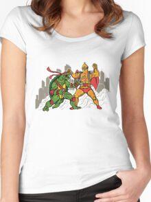 Teenage Mutant Gamera Ninja Women's Fitted Scoop T-Shirt