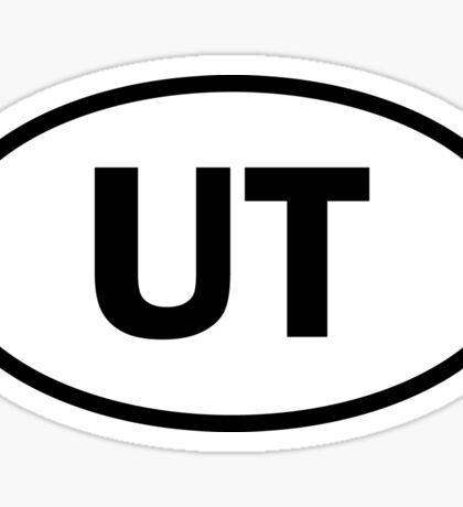 Utah - UT - oval sticker and more Sticker