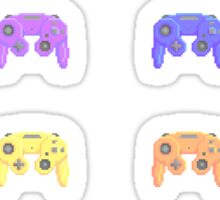 Pixel Gamecube Controllers - Pastel Set Sticker