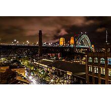 Sydney Harbour Bridge Night View Photographic Print