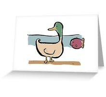 the heavy duck Greeting Card