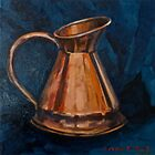 Copper jug.  2012Ⓒ by Elizabeth Moore Golding