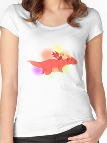 TH : nyan smaug 2 Women's Fitted Scoop T-Shirt