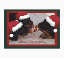 Christmas Rottweilers: A Time Of Joyous Giving  Kids Tee