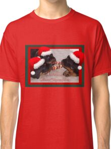 Christmas Rottweilers: A Time Of Joyous Giving  Classic T-Shirt