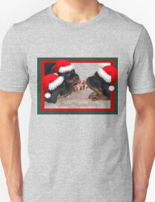 Christmas Rottweilers: A Time Of Joyous Giving  T-Shirt
