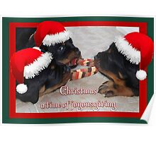 Christmas Rottweilers: A Time Of Joyous Giving  Poster