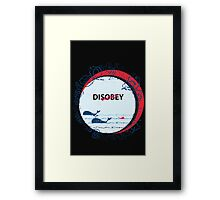 Disobey whale in Ocean Framed Print