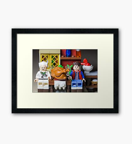Thanksgiving with Doc and Marty Framed Print