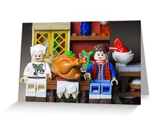 Thanksgiving with Doc and Marty Greeting Card