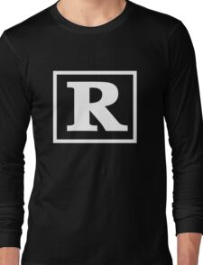 Rated R - In White Print Long Sleeve T-Shirt
