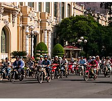 Motor bikes and classic buildings Photographic Print