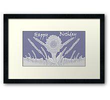 Happy Birthday in Mauve Framed Print