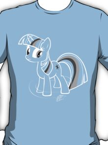 Bring that pony down! - white outline T-Shirt